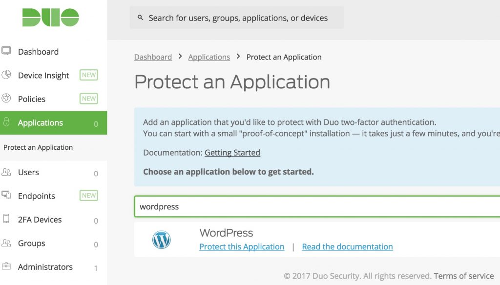 Duo WordPress Setup