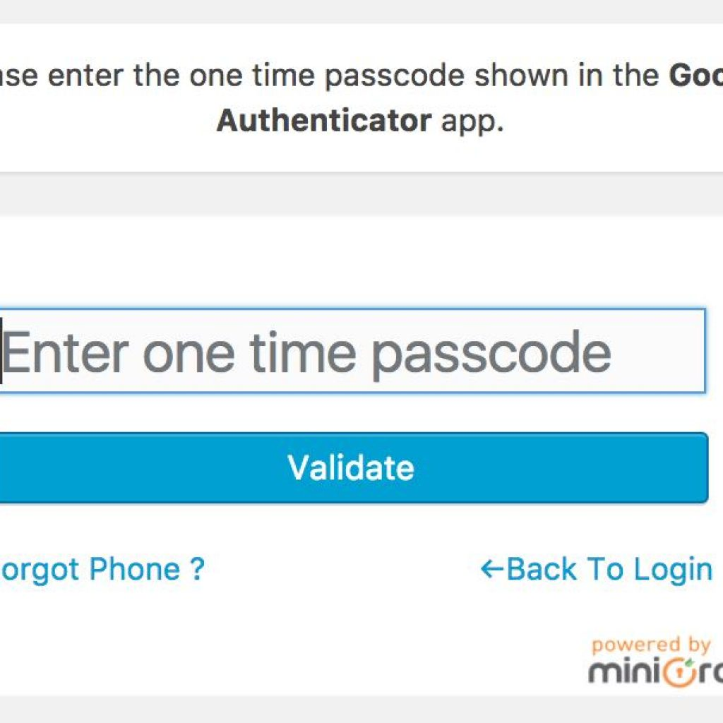 miniorange wordpress login with google authenticator