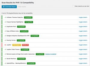 PHP 7 Compatibility Plugin Scan