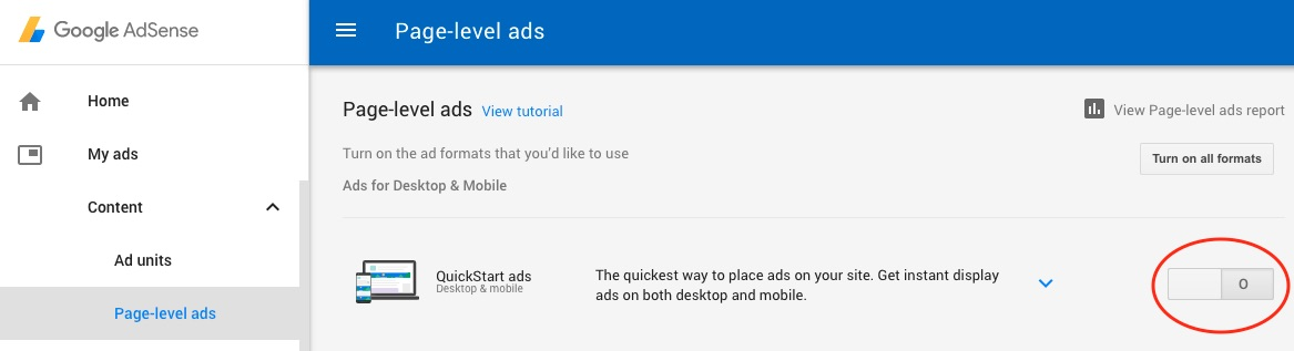 Google AdSense WordPress Page-level Ads