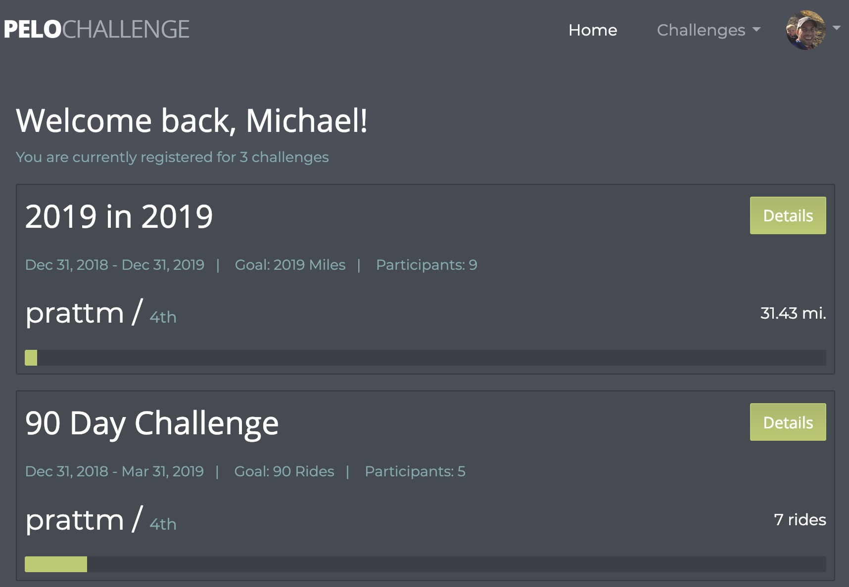 Custom Peloton Challenges